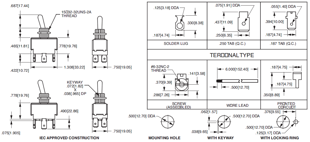 Rocker switch wiring spst together with Va Rocker Switch Wiring Diagram moreover Rocker Switch With Indicator Schematic together with Wiring Diagram Narva Rocker Switch further Switch Carling Toggle Dpst 2 Position Tabs. on 125vac toggle switch wiring diagram