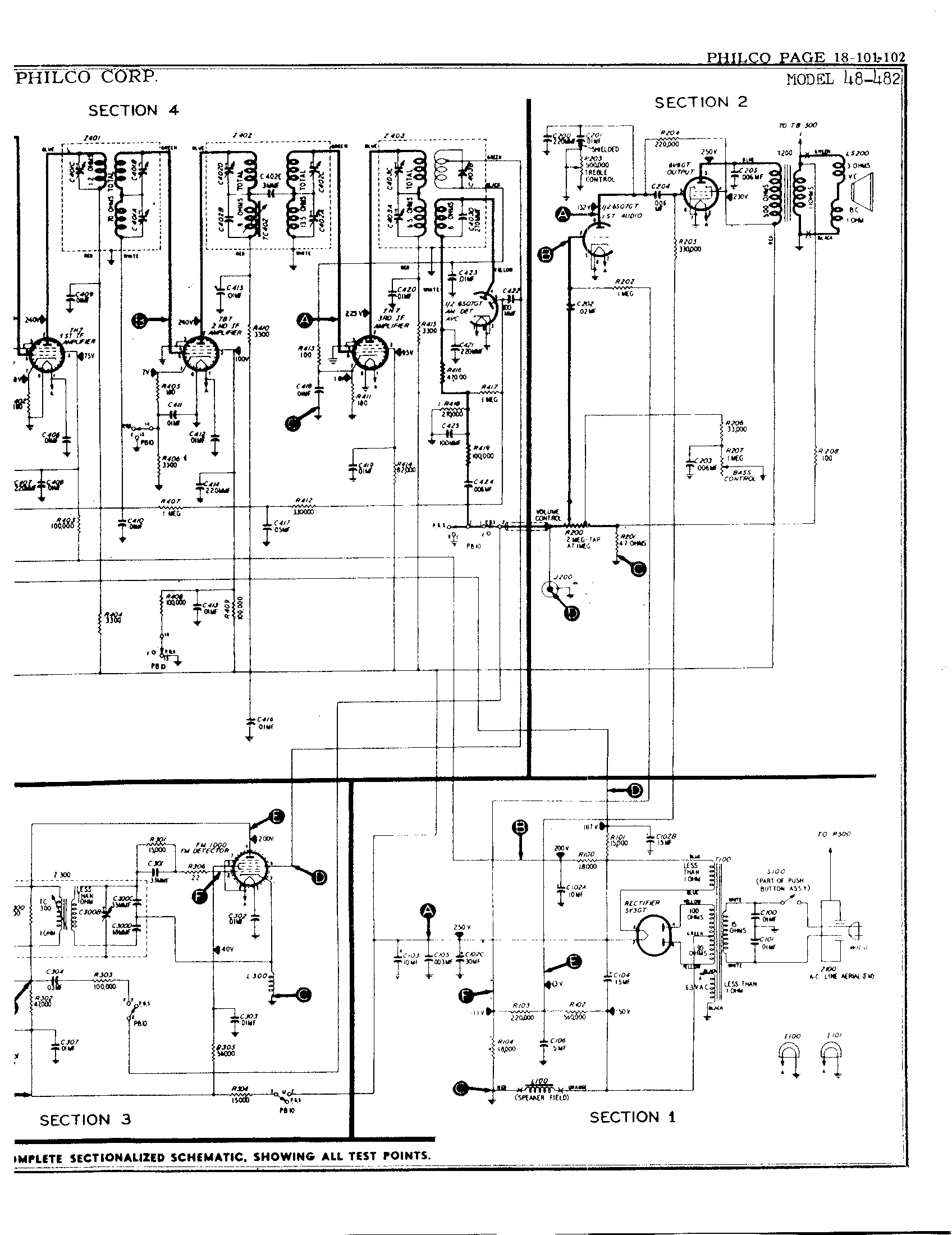 philco model 18 schematic