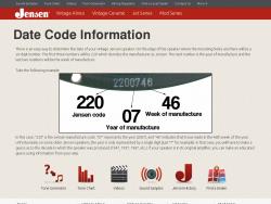 Jensen date code information
