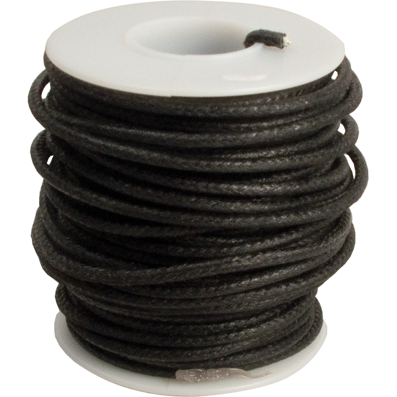 20 AWG vintage style solid cloth wire 50/' spool WHITE