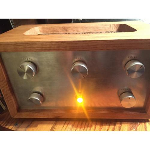 "Customer image:<br/>""Home built integrated amp"""