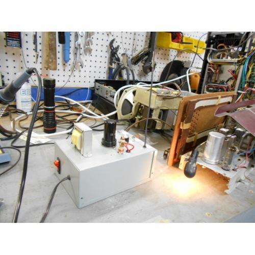 """Customer image:<br/>""""Philco 53-944 and tin can"""""""
