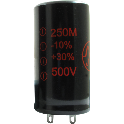 Capacitor - JJ Electronics, 500V, 250µF, Electrolytic image 1
