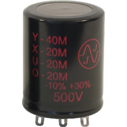 Capacitor - JJ Electronics, 500V, 40/20/20/20µF, Electrolytic image 1