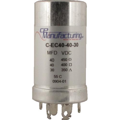 Capacitor - CE Mfg., 40µF@450V, 40µF@400V, 30µF@350V image 1