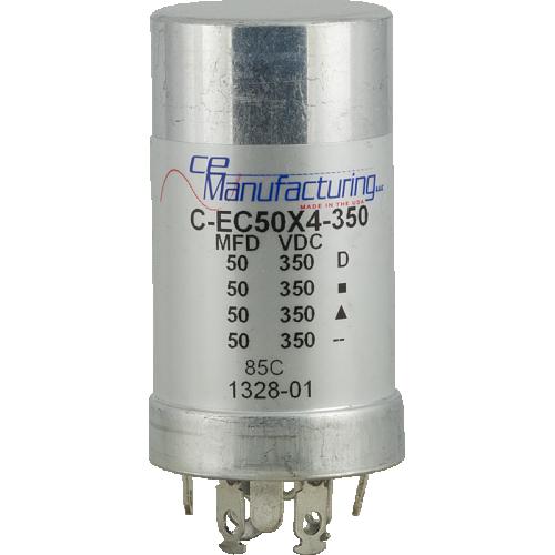 Capacitor - CE Mfg., 350V, 50/50/50/50uF image 1