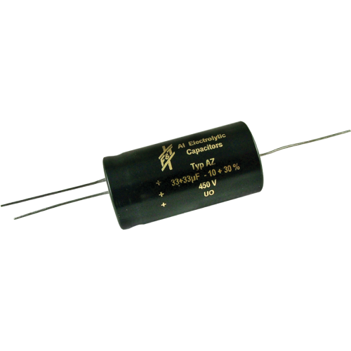 Capacitor - F&T, 450V, 33/33µF, Electrolytic image 1