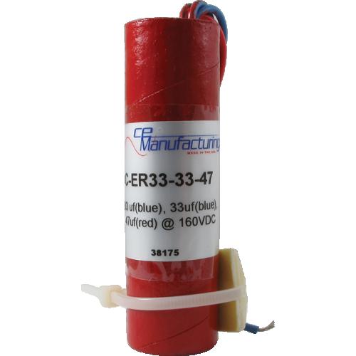 Capacitor - CE Mfg., 160V, 33/33/47µF, Electrolytic image 1