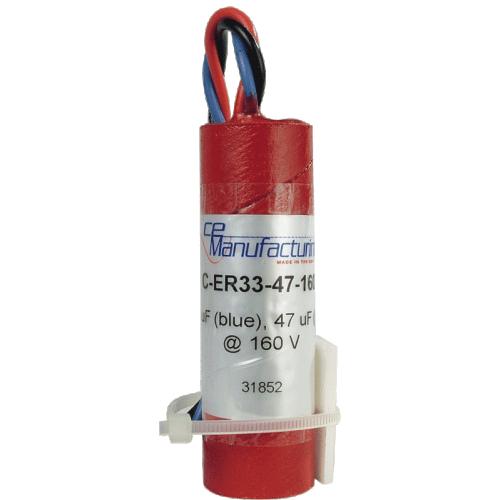 Capacitor - CE Mfg., 160V, 33/47µF, Electrolytic image 1