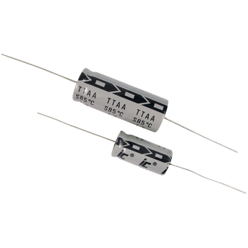 Capacitor - Axial Lead Electrolytic, 100µF @ 25VDC, Illinois Cap image 1
