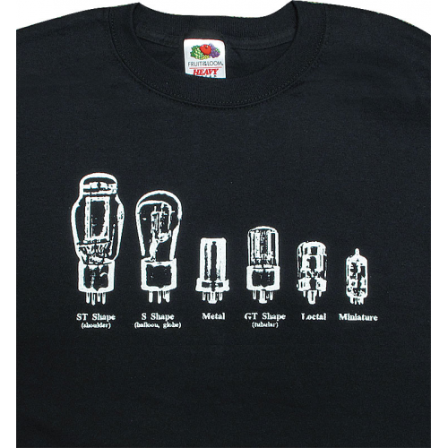 Shirt - Black with Tube Shapes image 1