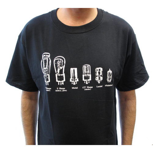 Shirt - Black with Tube Shapes image 2