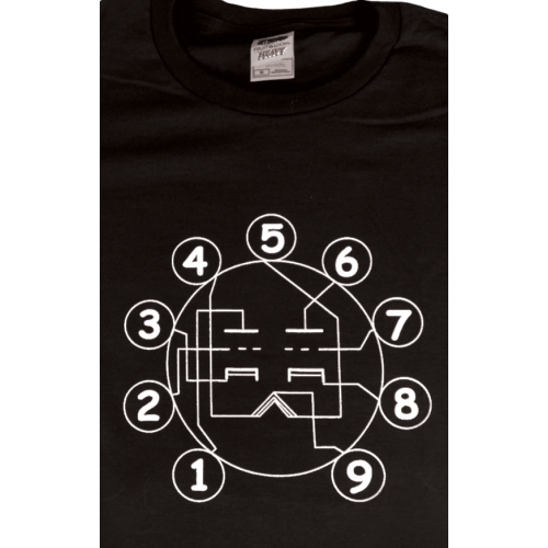 Shirt - Black with Tube Pin-out image 1