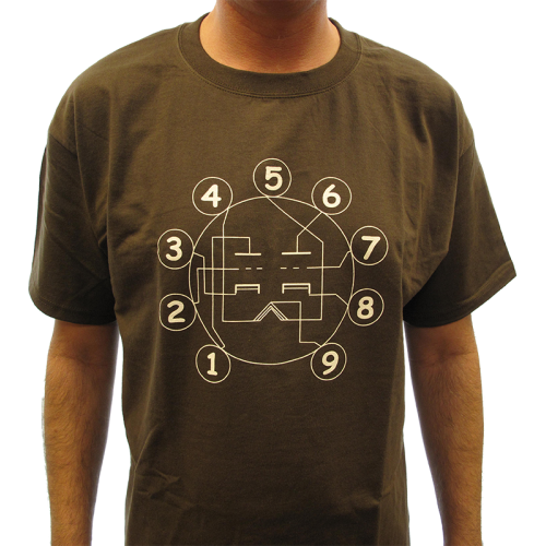 Shirt - Brown with Tube Pin-out image 2