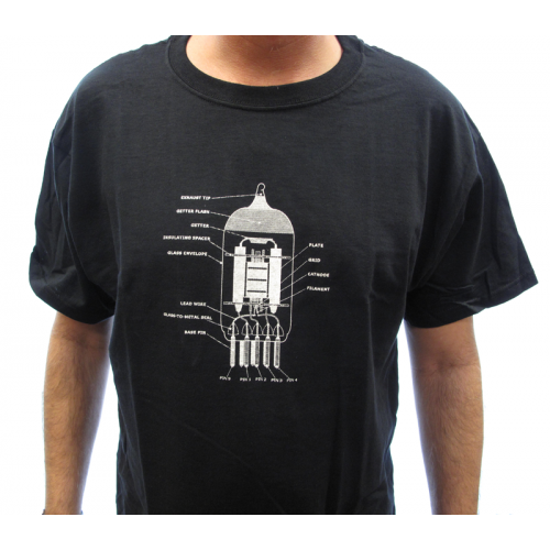 Shirt - Black with 12AX7 Diagram image 2