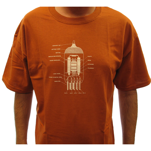 Shirt - Rust with 12AX7 Diagram image 2