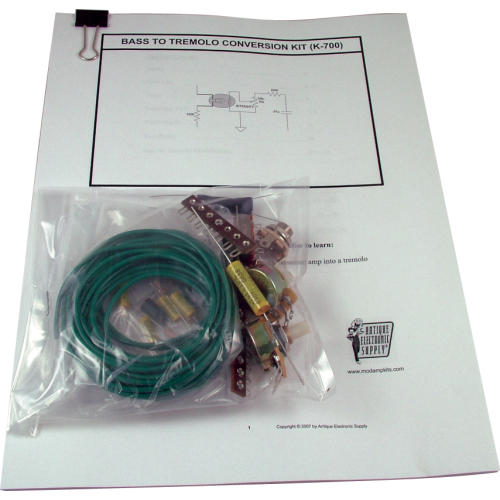 Kit - Amp Mod, Bass to Tremolo Conversion Kit image 1