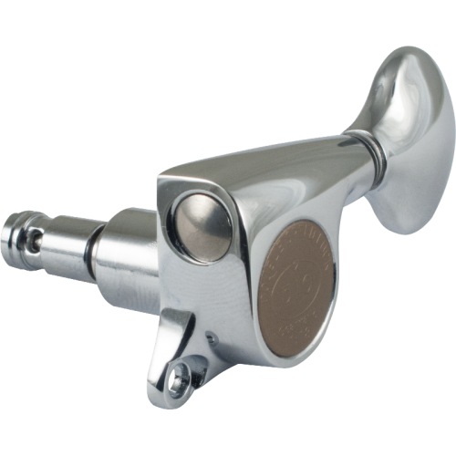 Tuner - Gotoh, Mini 510 Locking, chrome, 6-in-a-line image 1