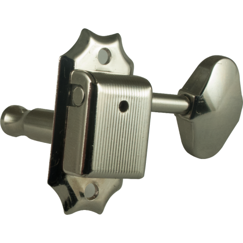 Tuner - Gotoh, Vintage Scalloped-knob, nickel, 3-per-side image 1