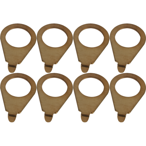 Knob pointer - Kluson, 90 degree blunt tip, Steel Gold, package of 8 image 1