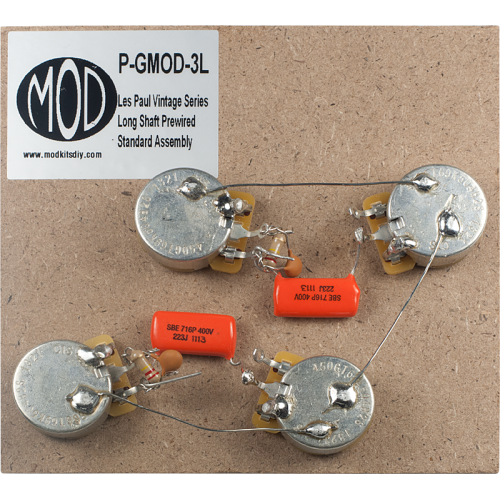 Prewired Assembly - MOD®, Vintage Series, Long Shaft Les Paul image 1