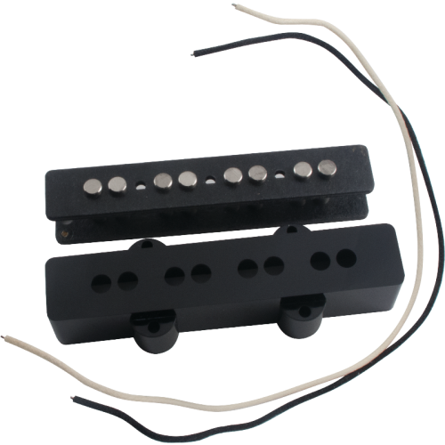 Pickup Parts Set - J-Bass, Neck, Black Cover image 1