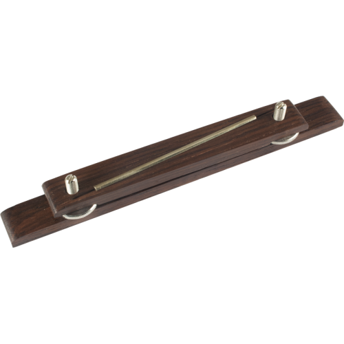 "Bridge - Grover, Adjustable, Rosewood, 6"", Metal Saddle image 1"