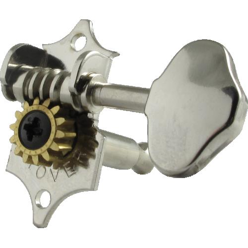 Tuner - Grover, Sta-Tite, 3 per side vertical, nickel image 1