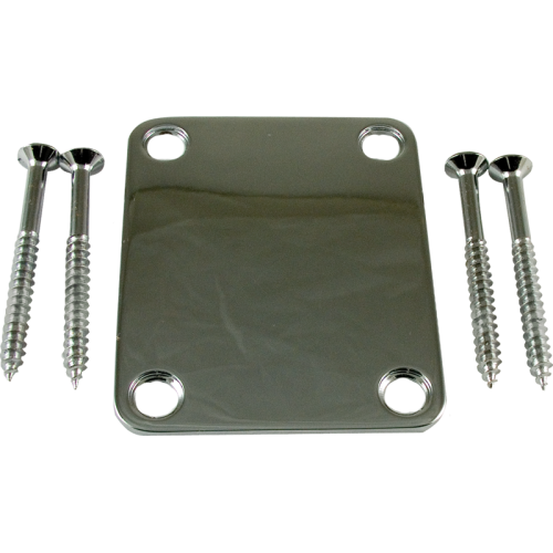 Neck Plate - 4-Hole, Chrome image 1