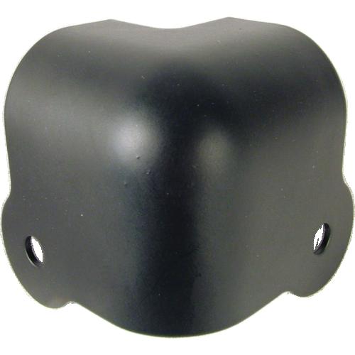 Corner - Black Steel, 2-Hole, 18 Gauge, Wraparound w/ Lip image 1