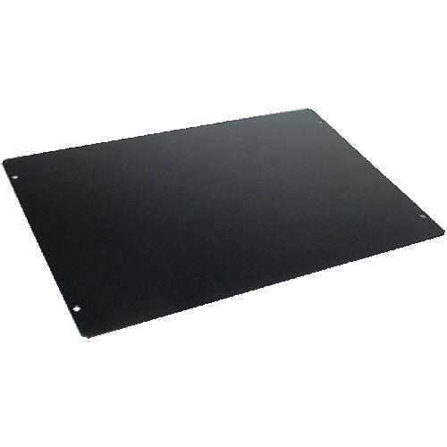 "Cover Plate - Hammond, Steel, 12"" x 8"", Black image 1"