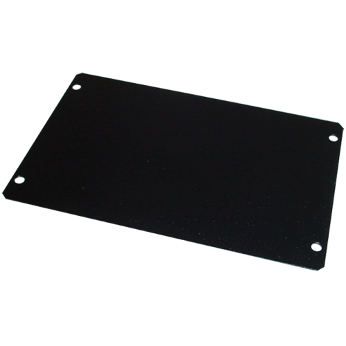 "Cover Plate - Hammond, Steel, 6"" x 4"", Black image 1"