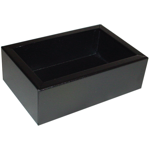 "Chassis Box - Hammond, Steel, 6"" x 4"" x 2"", Black image 1"