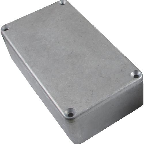 "Chassis Box - Hammond, Unpainted Aluminum, 4.37"" x 2.37"" x 1.22"" image 1"
