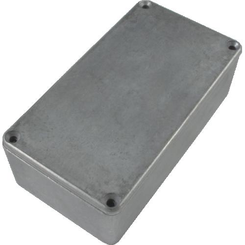 "Chassis Box - Hammond, Unpainted Aluminum, 4.77"" x 2.6"" x 1.39"" image 1"