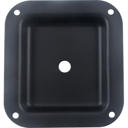 "Jack Plate - Metal, Black, 1 hole, 4.02"" x 4.40"" image 1"