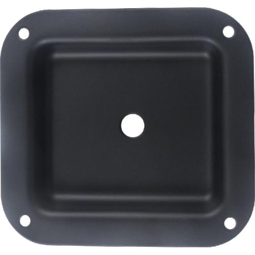 """Jack Plate - 1-Hole, Metal, Black, 4.02"""" x 4.40"""" image 1"""