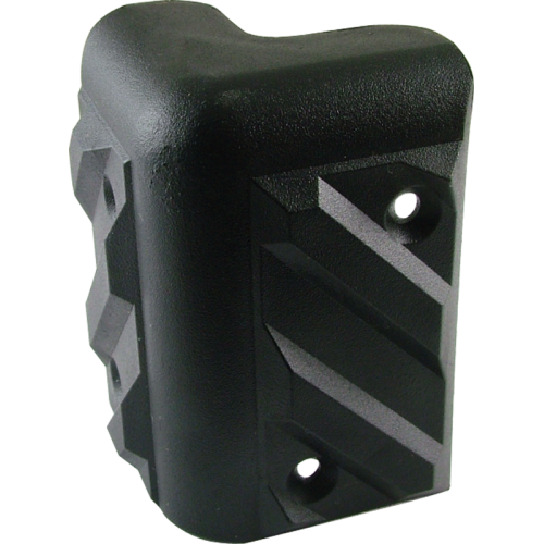 Corner - Black Plastic, 4-Hole, Small, Heavy Duty, Chevron image 1