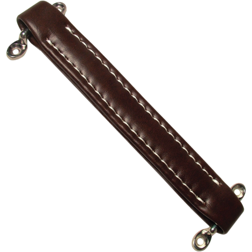 Handle - Ampeg Style, Brown Vintage, White Stitching image 1