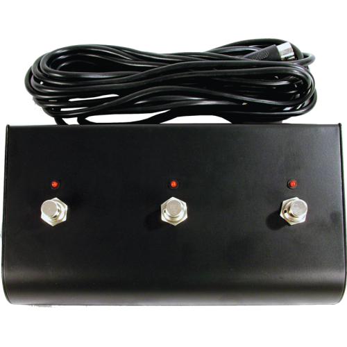 Footswitch - for Marshall, Three Button, w/ LED, DIN Plug image 1