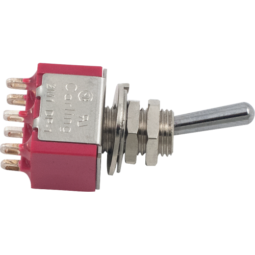Switch - Carling, Mini Toggle, DPDT, 2 Position image 1