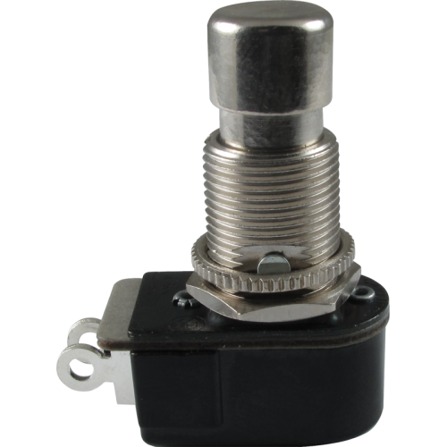 Switch - Carling, Footswitch, SPST, Momentary, Off-On, Solder Lugs image 1