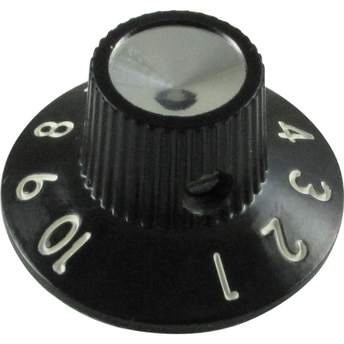 Knob, skirted for Blackface/Silverface amps, generic (single) image 1