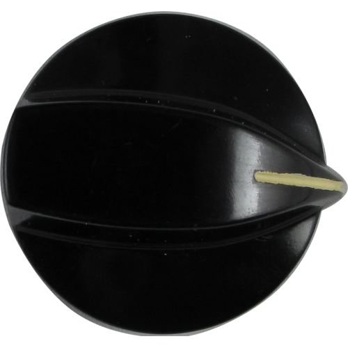Knob - Stove, Black, White Line, for Large Pots image 1