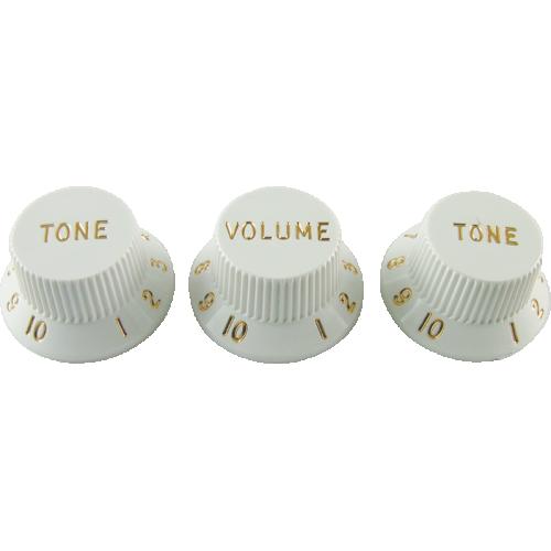 Knobs - Fender® Stratocaster, White (1 Volume, 2 Tone) image 1