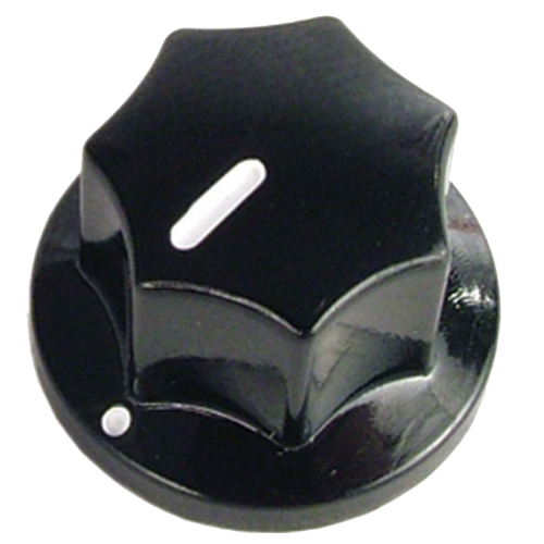 Knob - Black w/ Line, Set Screw, .75 x .50 image 1