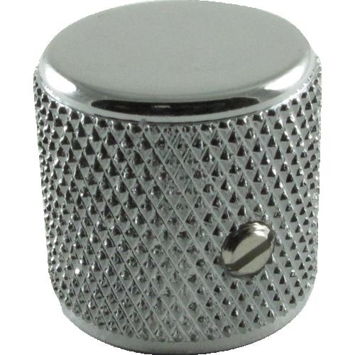 Knob - Fender®, Telecaster/P-Bass Barrel, Chrome, Set of 2 image 1