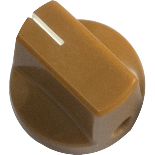 Knob - Tan, White Line, Small, Set Screw image 1