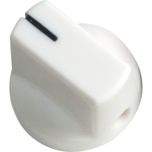 Knob - White, Black Line, Small, Set Screw image 1