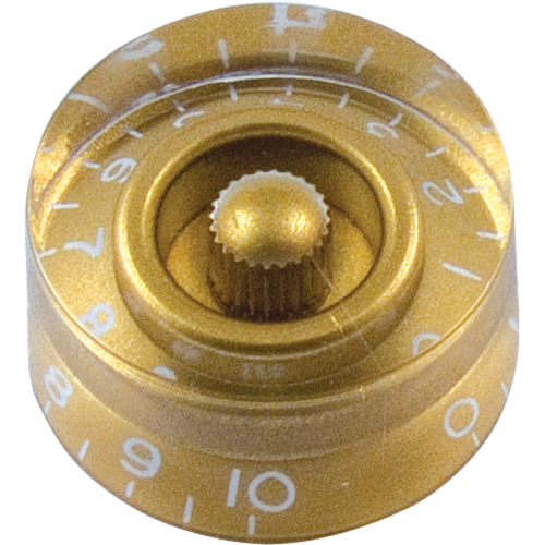 Knob, Gibson® speed type (4 pieces), gold image 1